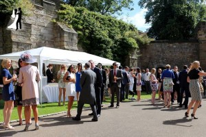 Master of Ceremonies and Wedding DJ Colin Cook providing Drinks Reception Music for a Durham Castle Wedding