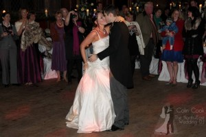 First Dance for Wedding at Durham Castle. Recommended Master of Ceremonies and Wedding DJ Colin Cook