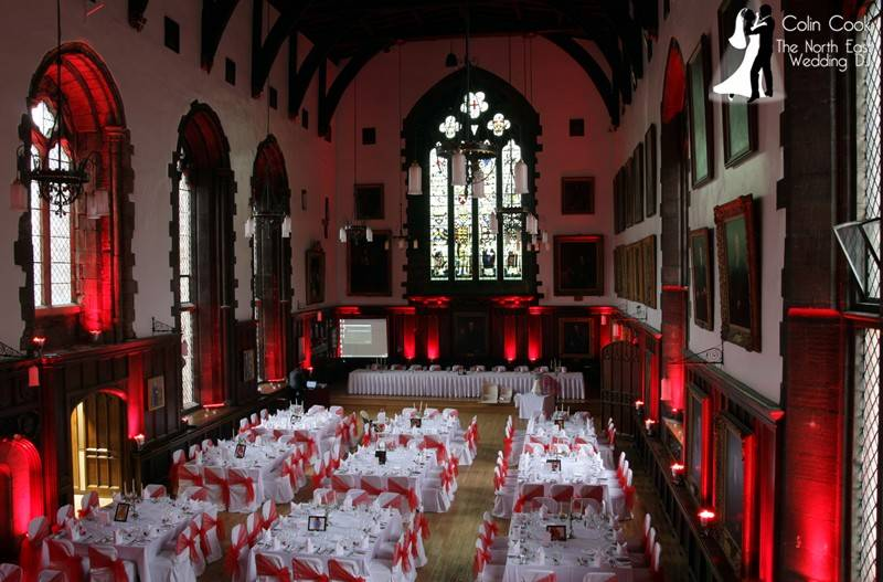 Durham Castle - This magnificent Castle is one of the oldest and most interesting Wedding Venues in the North East. There has been a castle on the site since the 11th Century and currently it is also the home of University College, Durham University. It's an amazing and Exclusive Wedding Venue
