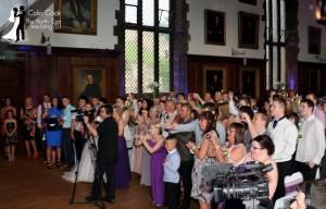 First Dance at Durham Castle evening Wedding Reception Disco