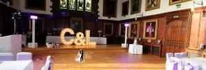 Durham Castle Wedding Disco Setup