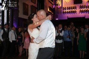 Durham Castle Wedding Disco First Dance. With Recommended Wedding DJ Colin Cook