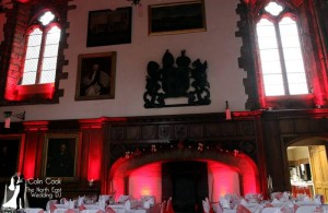Durham Castle Great Hall showing optional High Level Window lighting by Recommended Supplier Colin Cook