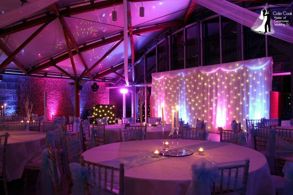 Alnwick Garden Wedding DJ and Lighting. Providing a real WOW factor for your Wedding Entertainment and Lighting